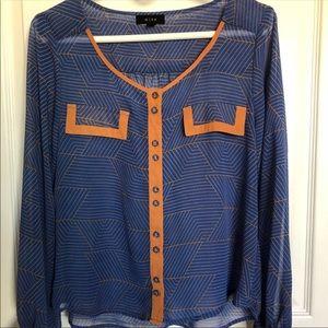 Tops - Color block shirt